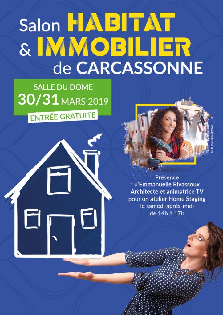 Salon de l'habitat et de l'immobilier de Carcassonne 30 et 31 mars 2019